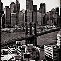 Brooklyn Bridge View In Sepia by Madeline Ellis