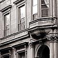 Brooklyn Heights -  N Y C - Classic Building And Bike by Carlos Alkmin