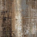 Slender - Grey And Brown Abstract Art Painting by CarolLynn Tice