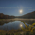 Brown County State Park Nashville Indiana Biblical Verse Ogle Lake by David Haskett II