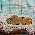 Brown Eggs In A Basket by Mary Carol Williams