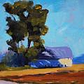 Brown Farm Landscape by Nancy Merkle