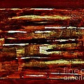 Brown Red And Golds Abstract by Marsha Heiken