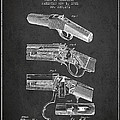 Browning Rifle Patent Drawing From 1921 - Dark by Aged Pixel