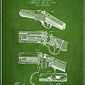 Browning Rifle Patent Drawing From 1921 - Green by Aged Pixel