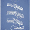 Browning Rifle Patent Drawing From 1921 - Light Blue by Aged Pixel