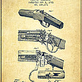 Browning Rifle Patent Drawing From 1921 - Vintage by Aged Pixel