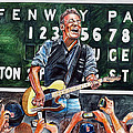 Bruce Springsteen At Fenway Park by Dave Olsen