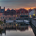 Bruges Canal Dawn by Joan Carroll