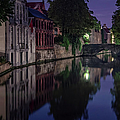 Bruges Canal Near Blind Donkey Alley  by Joan Carroll