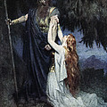 Brunhilde Knelt At His Feet, From The by Ferdinand Leeke