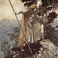Brunnhilde From The Rhinegold And The Valkyrie by Arthur Rackham