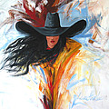 Brushstroke Cowgirl by Lance Headlee