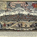 Brussels In 17th C. Engraving. � by Everett