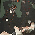 Brutality Of Policemen, Illustration by Georges d' Ostoya