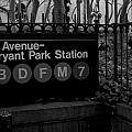 Bryant Park Station by Mike Horvath
