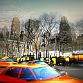 Bryant Park Taxi by Diana Angstadt
