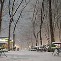 Bryant Park - Winter Snow Wonderland - by Vivienne Gucwa
