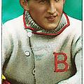 Buck Herzog Boston Braves Baseball Card 0500 by Wingsdomain Art and Photography