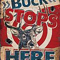 Buck Stops Here Sign by JQ Licensing