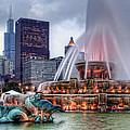 Buckingham Fountain - 2 by Nikolyn McDonald