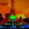 Buckingham Fountain Fantasy Chicago Il by Ellen Cannon