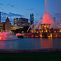Buckingham Fountain Light Show by Lindley Johnson