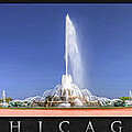 Buckingham Fountain Panorama Poster by Christopher Arndt