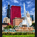 Buckingham Fountain Sears Tower Poster by Christopher Arndt