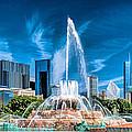 Buckingham Fountain Skyline Panorama by Christopher Arndt