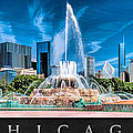 Buckingham Fountain Skyline Panorama Poster by Christopher Arndt