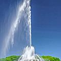 Buckingham Fountain Spray by Christopher Arndt