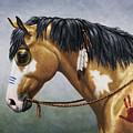 Buckskin Native American War Horse by Crista Forest