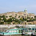 Buda Castle And Boats On Danube River by Artur Bogacki