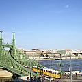 Budapest Cityscape And Liberty Bridge by Artur Bogacki