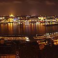 Budapest Night Panorama  by Ioan Panaite