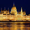 Budapest Parliament At Night by Artur Bogacki