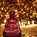 Buddha And Candles by Olivier Le Queinec