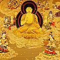 Buddha And Fairies by Chris Quek