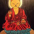 Buddha Cat Asian  by Theresa Shaw