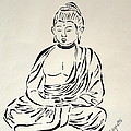 Buddha In Black And White by Pamela Allegretto