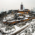 Buddha - Jiming Temple In The Snow - Colour Version  by Dean Harte