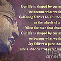 Buddha Mind Shapes Life by Ginny Gaura