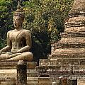 Buddha Sukhothai Thailand 6 by Bob Christopher