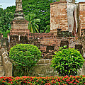 Buddhas In Wat Mahathat In 13th Century Sukhothai Historical Park-thailand by Ruth Hager