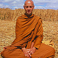Buddhist Monk Meditating by David Parker and SPL