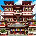Buddhist Temple In Singapore by Luciano Mortula
