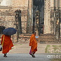 Buddist Monks Visiting Sukhothia by Eclectic Captures