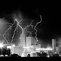 Budweiser Lightning Thunderstorm Moving Out Bw Pano by James BO  Insogna