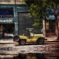 Buenos Aires Jeep Under The Rain by Diane Dugas